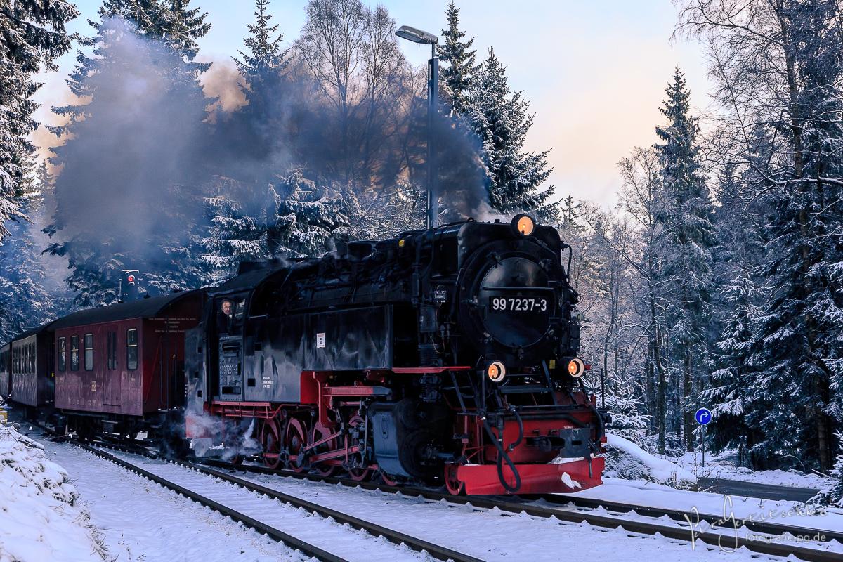 Dampflok-Nostalgie - die Harzer Brokenbahn